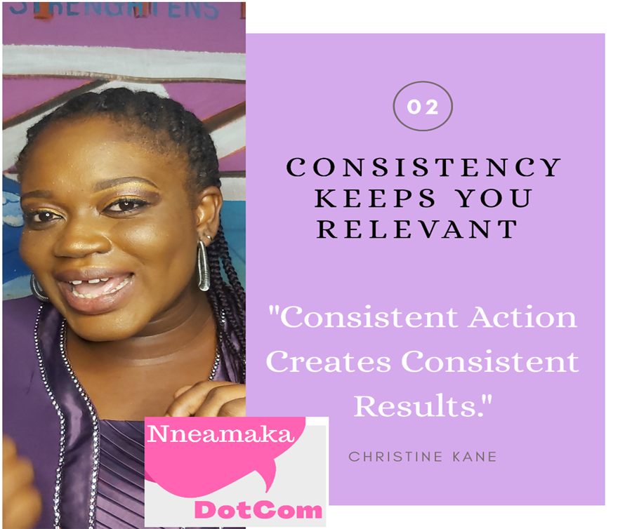 Consistency Keeps You Relevant
